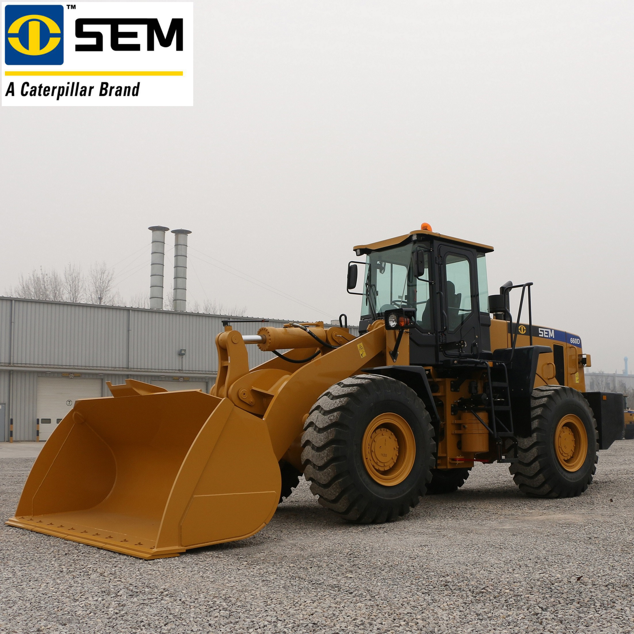 Single Stage Heavy Earth Moving Machinery SEM 6 Ton Wheel Loader SEM660D  4.5m³ Bucket