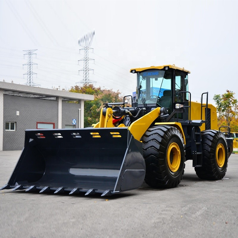 Construction 4 Wheel Drive Loader 7 Ton LW700KV 4.2m³ Capacity Weichai Engine